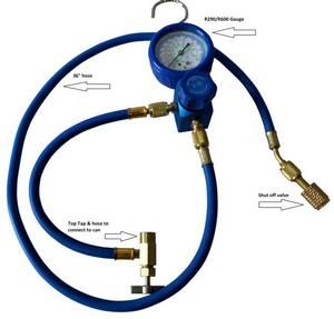 Enviro-Safe R12 R22 Charging Gauge Set Heavy Duty Brass #3226