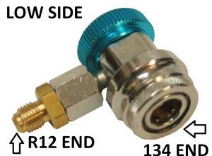 134a Lowside Thread Down Coupler w/14mm ends #3055 - Click to Purchase
