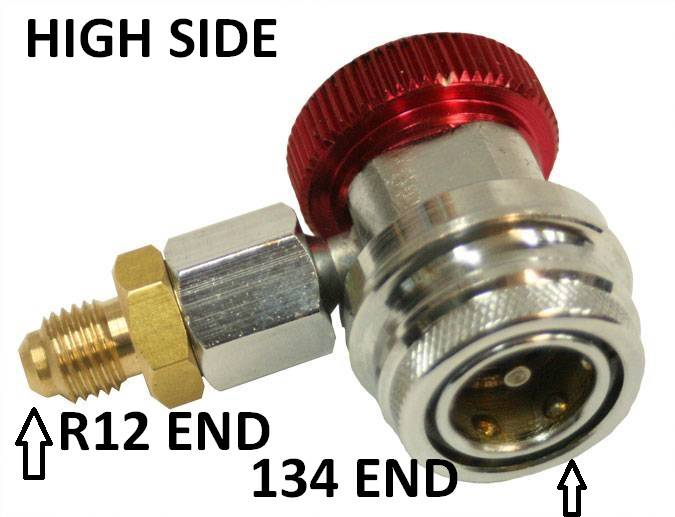 Envirosafe 134a Highside Thread Down Coupler w/14mm ends #3060 Photo - Click to Enlarge