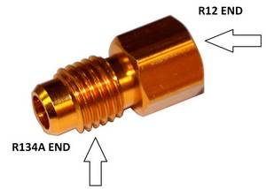 R12 to R134a Tank Adapter #3025 - Click to Purchase