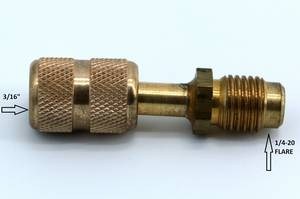 "3/16"" to 1/4"" Economy Adapter #3040 - Click to Purchase"