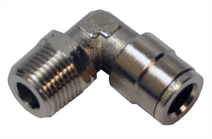 "Envirosafe Swivel 3/8"" Tube x 3/8"" MPL Push in Pneumatic Fitting  #6085 Photo - Click to Enlarge"