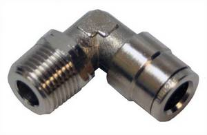 "Swivel 3/8"" Tube x 3/8"" MPL Push in Pneumatic Fitting  #6085 - Click to Purchase"
