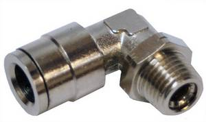 "Swivel 3/8"" Tube x 1/4"" MPL Push in Pneumatic Fitting  #6080 - Click to Purchase"