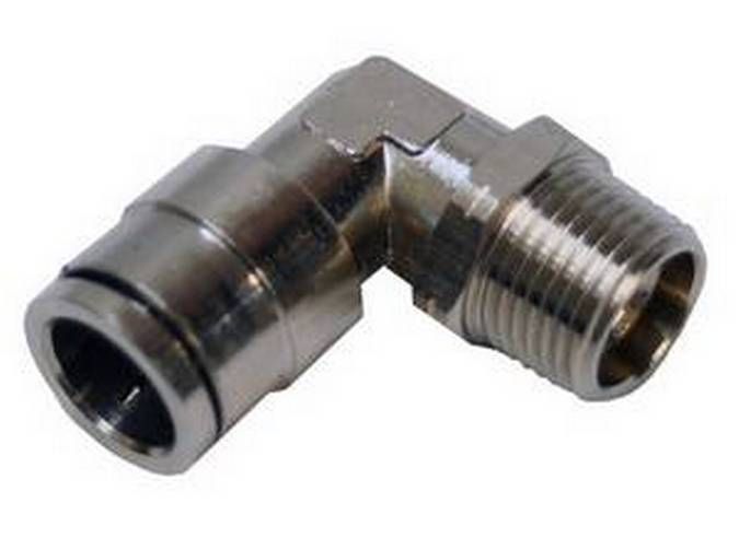 "Envirosafe Swivel 1/2"" Tube x 3/8"" MPL Push in Pneumatic Fitting  #6090 Photo - Click to Enlarge"