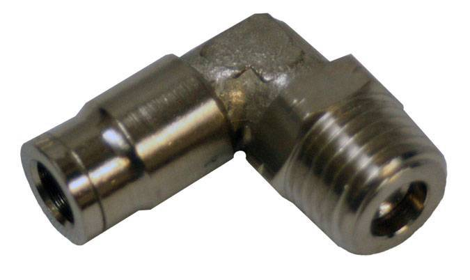 "Envirosafe Swivel 1/4"" Tube x 3/8"" MPL Push in Pneumatic Fitting  #6075 Photo - Click to Enlarge"