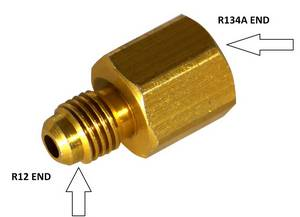 134a to R12 Tank Adapter #3030 - Click to Purchase