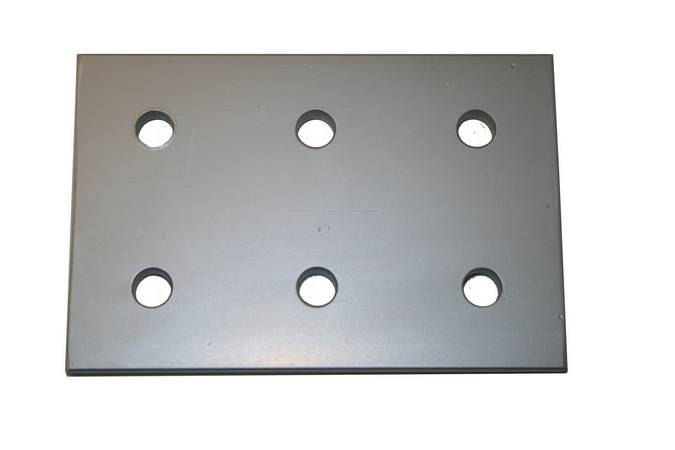 Envirosafe T Slot Aluminum Extrusion 15 S 6 Hole Joining Plate #4366 Photo - Click to Enlarge