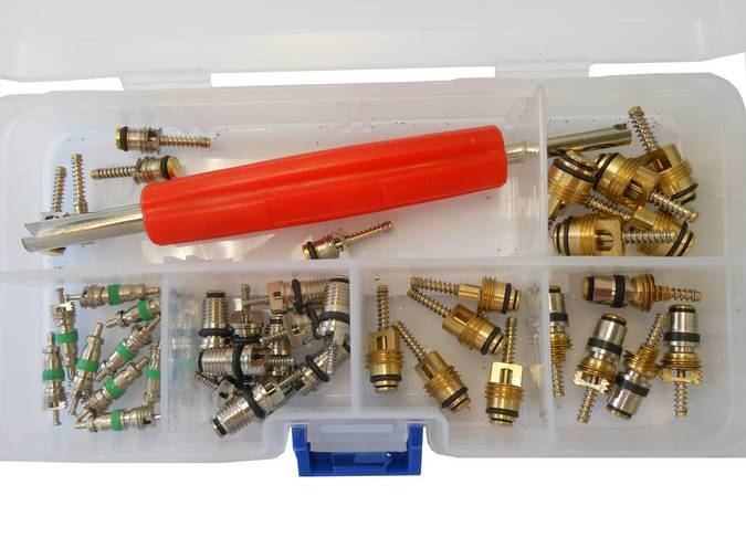 Envirosafe R134a Schrader Assortment & Valve Core Tool CH-236 #5135 Photo - Click to Enlarge