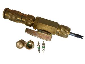 Premium Valve Core Schrader Repair Kit with Brass Caps #3501B - Click to Purchase