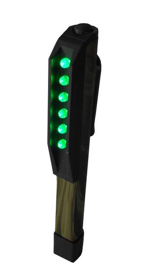 Clip On/Magnetic 6 bulb Green LED Camo #3535 - Click to Purchase