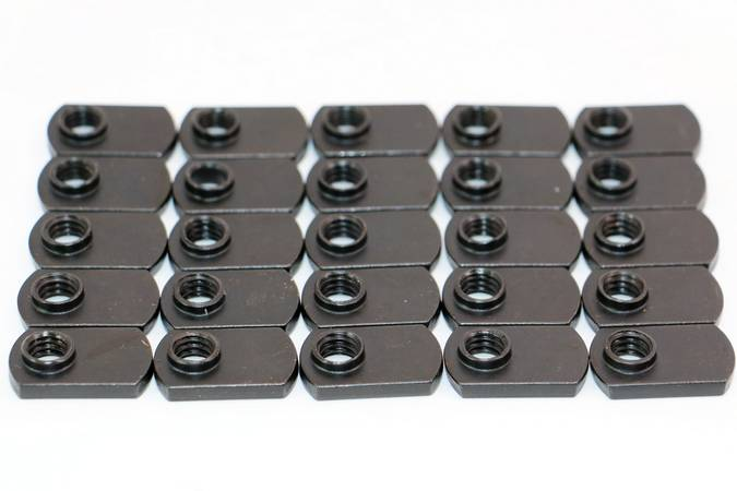 Envirosafe T Slot Black Steel Flat T-Nut #4328 Photo - Click to Enlarge