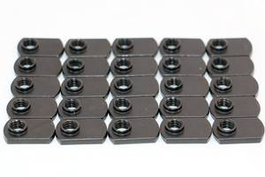 T Slot Black Steel Flat T-Nut #4328 - Click to Purchase