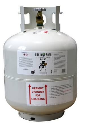ES R-290 Refrigerant R290 Cylinders Subject to EPA Use Restrictions - Click to Purchase