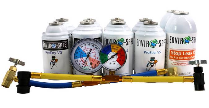 Envirosafe Auto/Home A/C Sealant Kit for R22 & R134 Systems  Ships Internationally!! Photo - Click to Enlarge