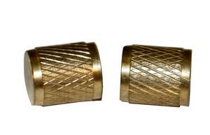 "R12 R22 R502 Brass 1/4"" Gnarled Service Caps 2 Pack #3408 - Click to Purchase"