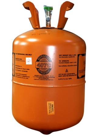 407C Refrigerant with Oil 25lb Cylinder #9980 - EPA Certification Required! - Click to Purchase